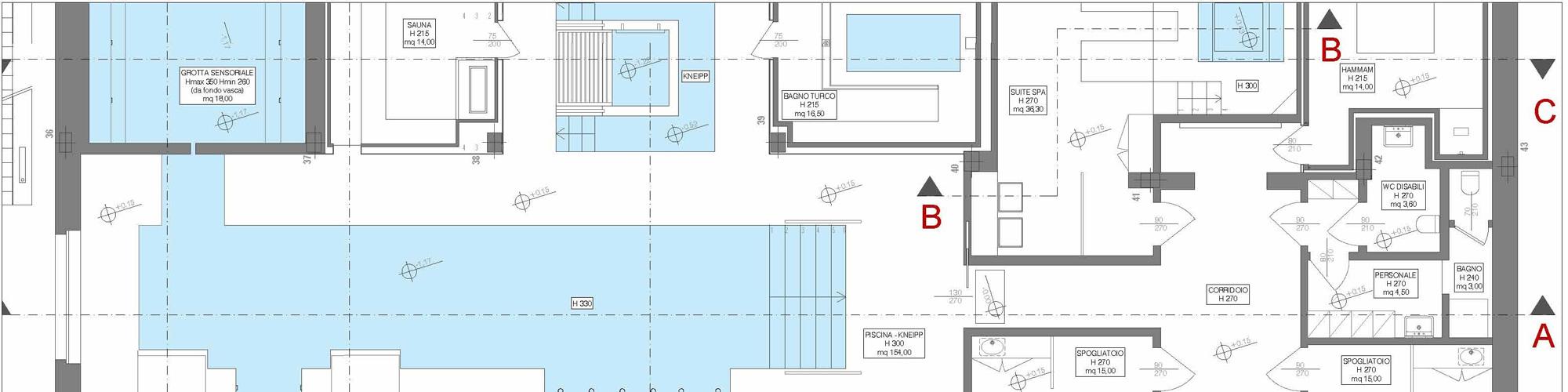 Pianta architettura spa
